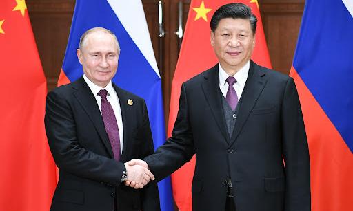 Chủ tịch Tập Cận Bình (phải) và Tổng thống Vladimir Putin tại Bắc Kinh, Trung Quốc tháng 4/2019. Ảnh: Xinhua.