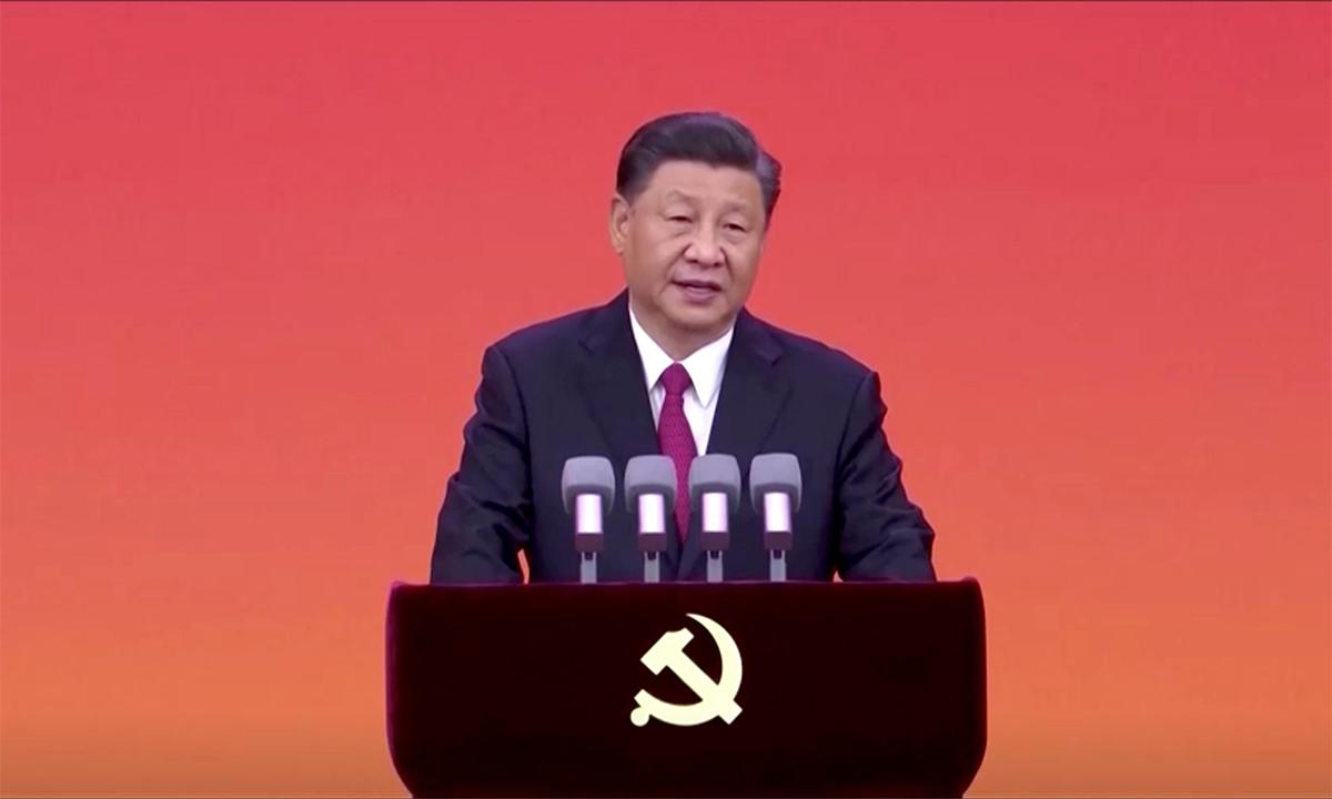 Chủ tịch Trung Quốc Tập Cận Bình phát biểu trong một buổi lễ tại Bắc Kinh ngày 29/6. Ảnh: Reuters.