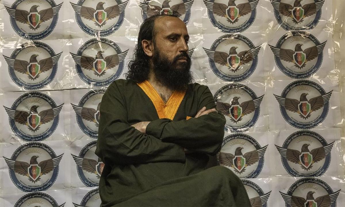 Cựu thủ lĩnh Abu Omar Khorasani trong nhà tù ở Afghanistan hồi tháng 8. Ảnh: WSJ.
