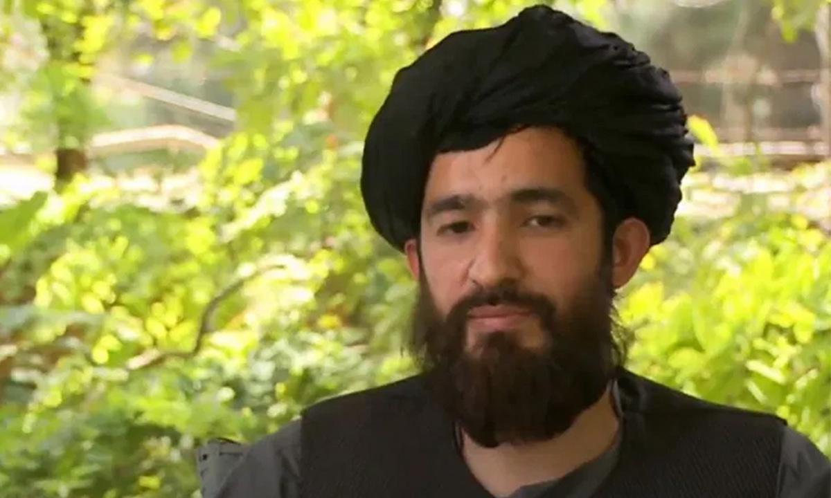 Abdul Qahar Balkhi trong một cuộc phỏng vấn được công bố hồi đầu tuần. Ảnh: Al Jazeera.