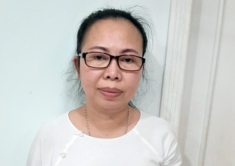 Bà Trần Thị Thảo Trang khi bị bắt giữ. Ảnh: An Phú