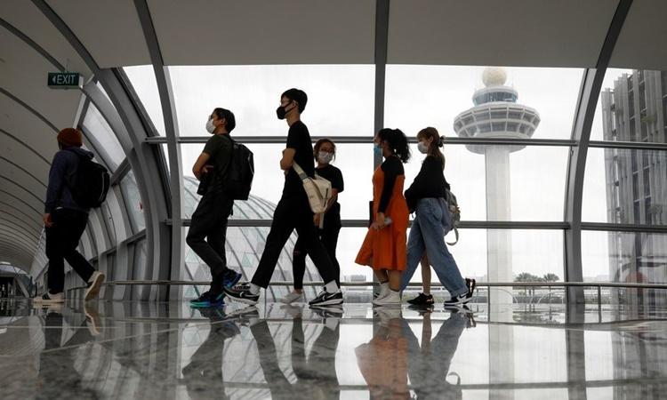 Sân bay Changi, Singapore, ngày 18/1. Ảnh: Reuters.