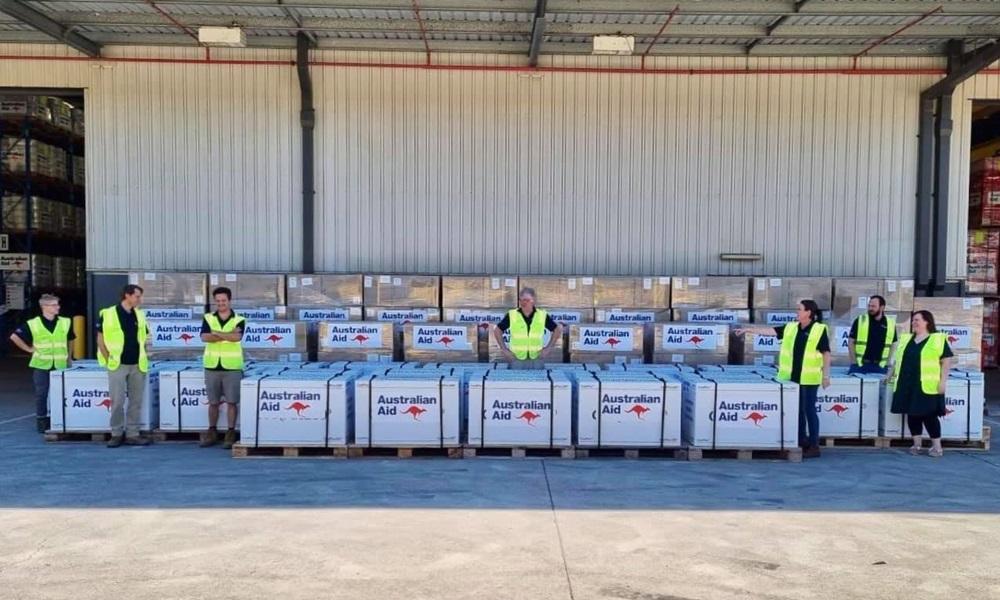 Lô vaccine Covid-19 Australia chuyển giao cho Việt Nam hôm 26/8. Ảnh: Facebook/Marise Payne.