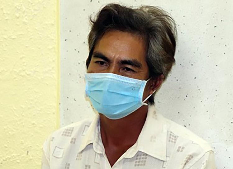 Nguyễn Văn Công tại cơ quan điều tra. Ảnh: Công an Sóc Trăng