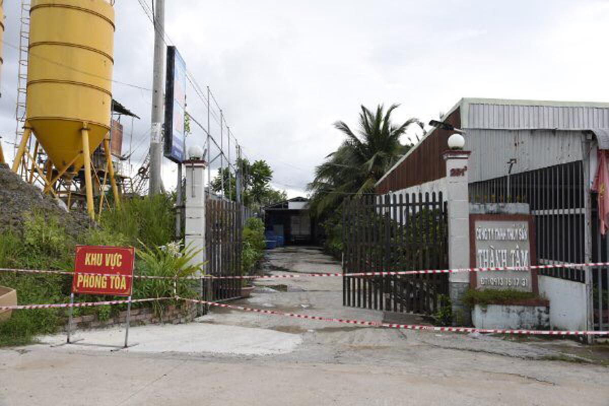 Trụ sở Công ty TNHH MTV dịch vụ thủy sản Thành Tâm. Ảnh: Anh Tuấn