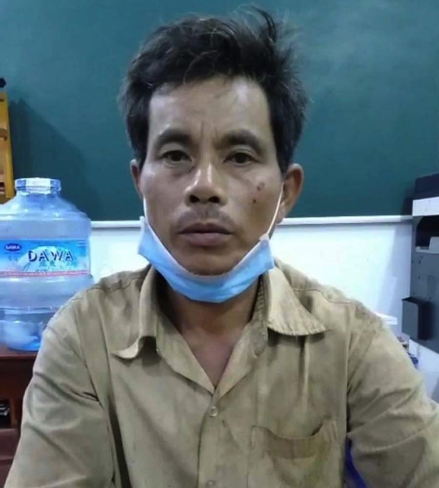Trịnh Văn Minh lúc bị bắt. Ảnh: Công an cung cấp