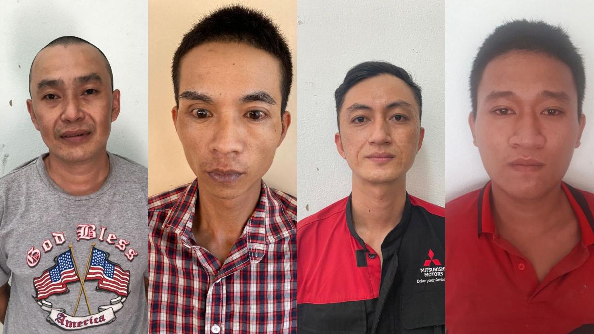 Từ trái qua Chữ Quang Minh, Ngô Trường Thông, Nguyễn Thanh Hải, Nguyễn Văn Vĩnh Trường. Ảnh: Đắc Thành.