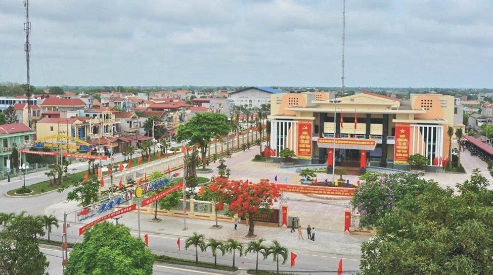 Huyện Nga Sơn thực hiện giãn cách từ 6h sáng 31/8. Ảnh: Lam Sơn.