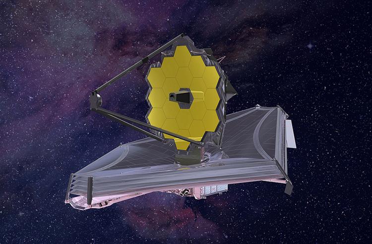 Mô phỏng kính viễn vọng không gian James Webb khi đi vào hoạt động. Ảnh: NASA