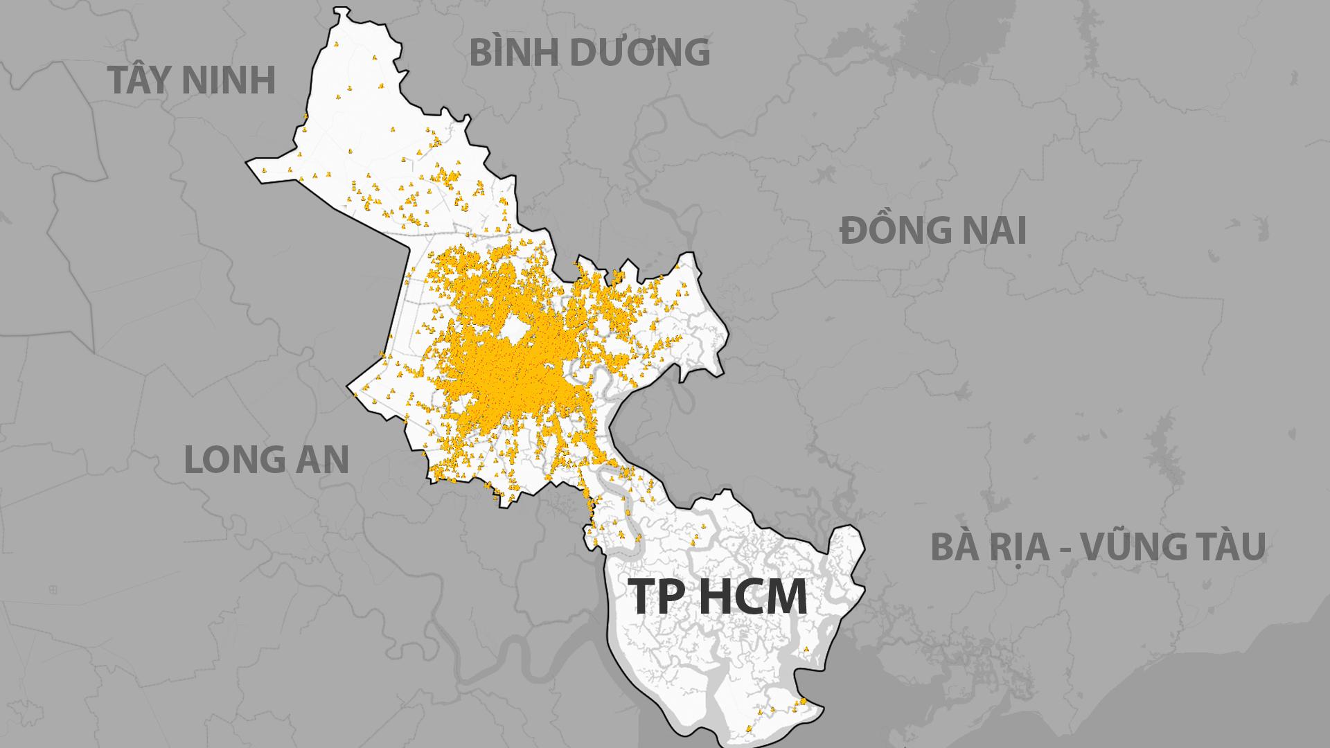 Đến 31/8, TP HCM ghi nhận 221.254 ca dương tính ở khắp các quận huyện.