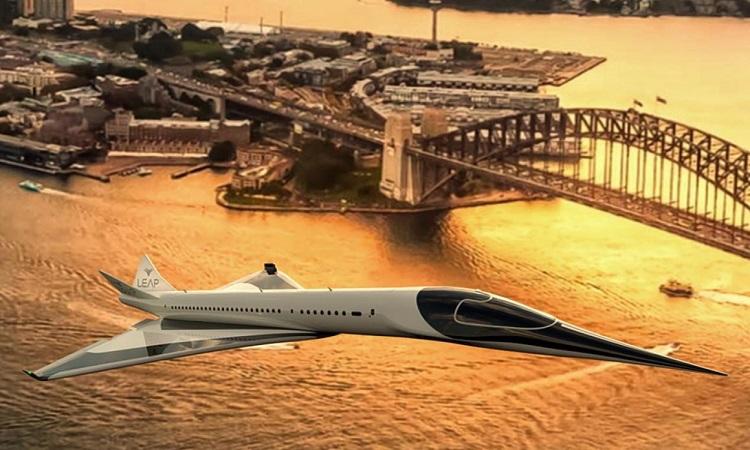 Thiết kế máy bay siêu thanh không thải khí và siêu êm. Ảnh: Leap