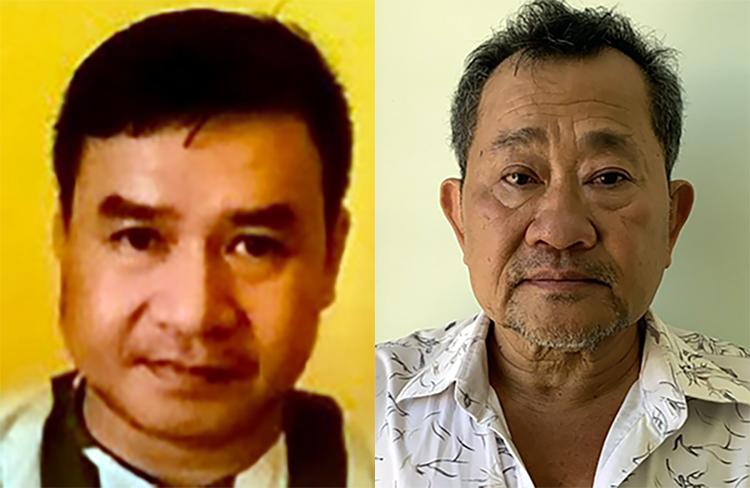 Huỷnh Sĩ Nguyên (trái) và Dương Văn Hoàng. Ảnh: An Phú