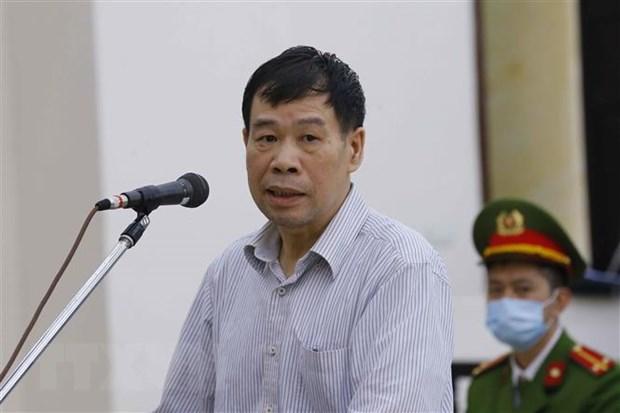 Vũ Thanh Hà, cựu tổng giám đốc Công ty cổ phần Hoá dầu và Nhiên liệu sinh học Dầu khí - PVB bị toà sơ thẩm phạt 6 năm 6 tháng tù, nặng nhất trong số 6 người kháng cáo. Ảnh: Ảnh:TTXVN