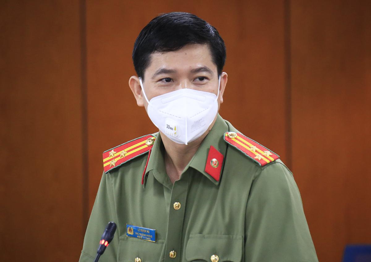 Thượng tá Lê Mạnh Hà, Phó phòng Tham mưu, Công an TP HCM. Ảnh: Hữu Công