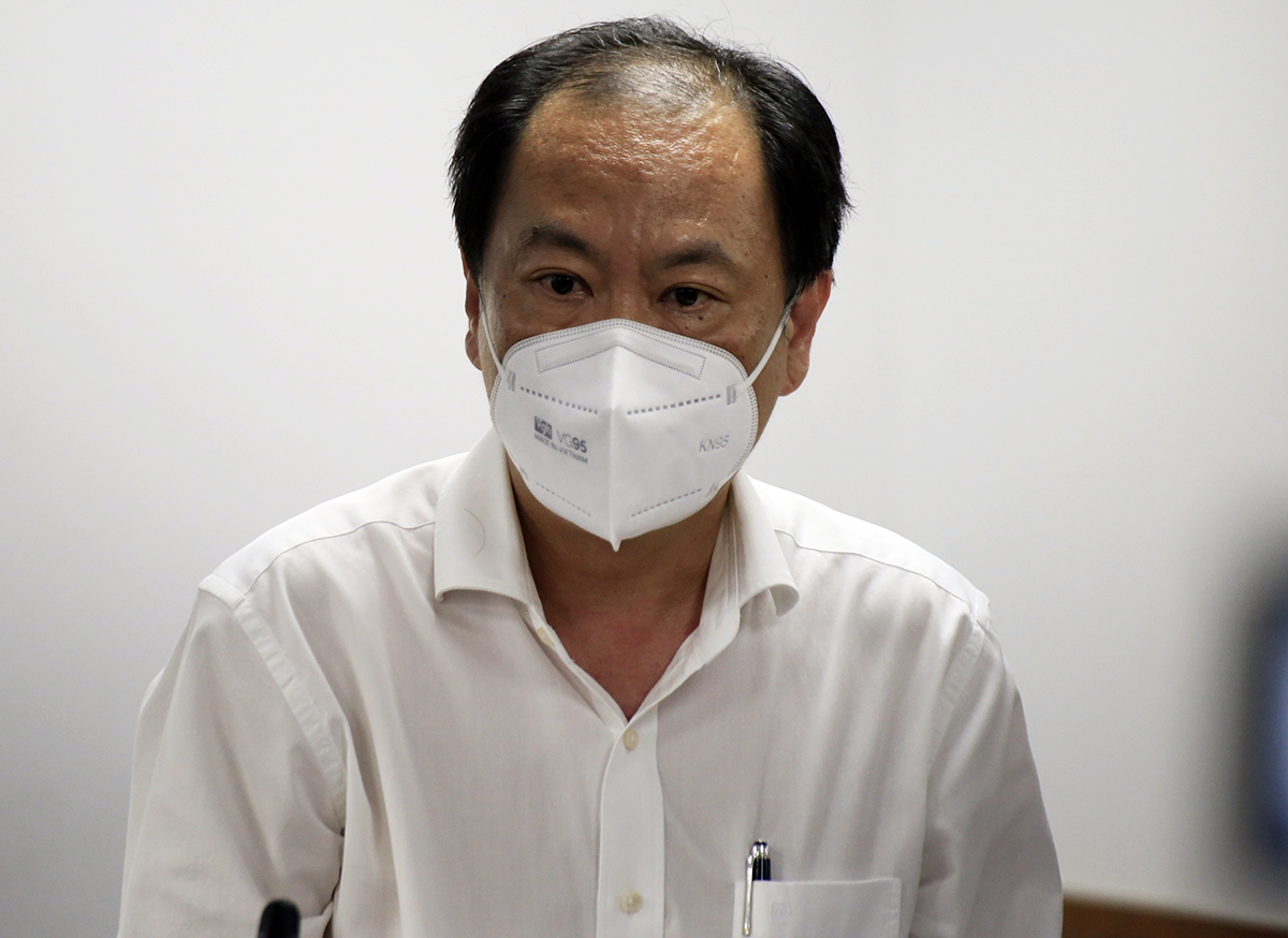 Phó giám đốc Sở Y tế Nguyễn Hoài Nam tại buổi họp báo chiều 1/9. Ảnh: Hữu Công