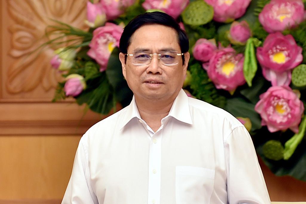 Thủ tướng Phạm Minh Chính phát biểu tại buổi gặp mặt các nhà khoa học trong lĩnh vực y tế, chiều 1/9. Ảnh: Nhật Bắc
