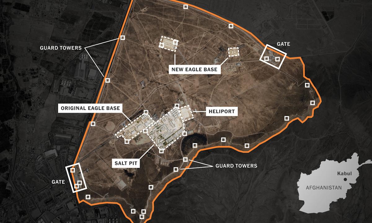 Khu phức hợp của CIA  ở ngoại ô Kabul, Afghanistan. Ảnh: Planet Labs.