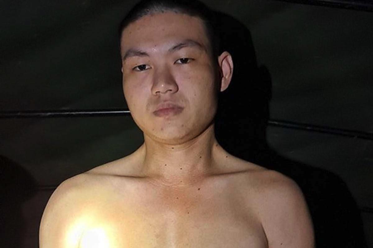 Nguyễn Trần Anh Quốc bị cảnh sát bắt giữ tối 2/9, khi đang lẩn trốn ở Phú Yên. Ảnh: Công an
