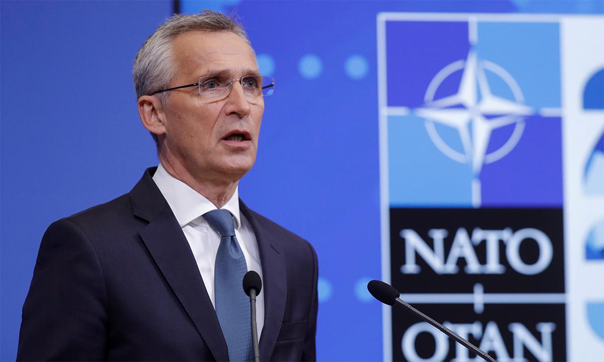 Tổng thư ký NATO Jens Stoltenberg phát biểu trong hội nghị trực tuyến ngày 31/5. Ảnh: Reuters.