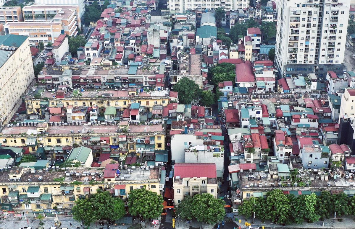 Ổ dịch tại phường Thanh Xuân Trung (Thanh Xuân) hiện là ổ dịch lớn nhất thủ đô tính từ khi có dịch, số ca bệnh đã lên tới 412. Ảnh: Ngọc Thành.
