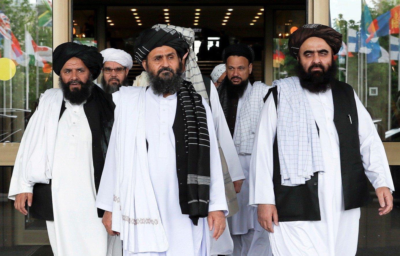 Phái đoàn Taliban tới thăm Bắc Kinh, Trung Quốc, vào năm 2019. Ảnh: Reuters.