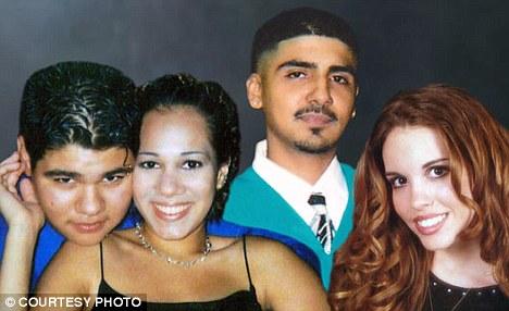 Tiffany Rowell (nữ tóc đen) và 3 nạn nhân trong vụ án. Ảnh: Murderpedia
