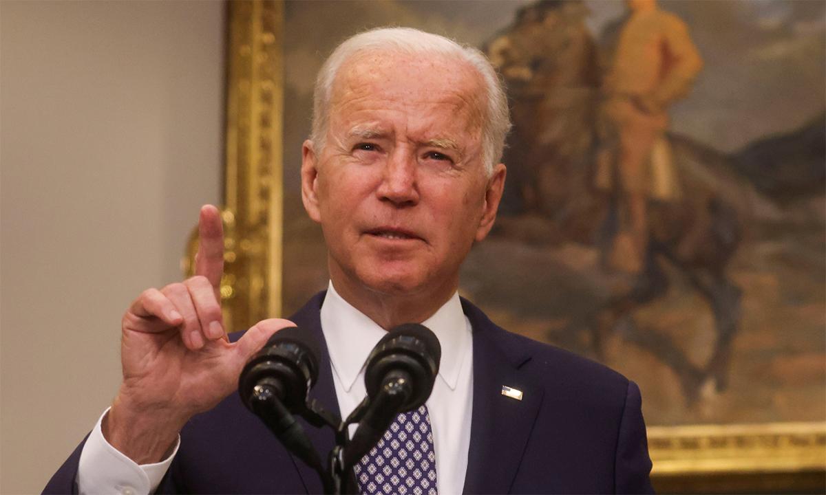 Tổng thống Mỹ Joe Biden trong cuộc họp báo tại Nhà Trắng ngày 24/8. Ảnh: Reuters.