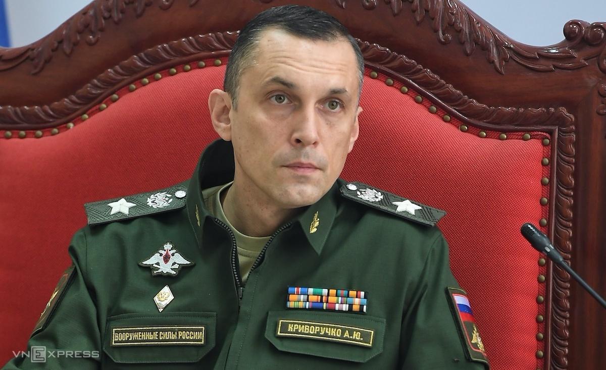 Ông Krivoruchko Aleksei Iurievich, Thứ trưởng Quốc phòng Nga tại Trung tâm Huấn luyện quân sự quốc gia 4, sáng 4/9. Ảnh: Giang Huy