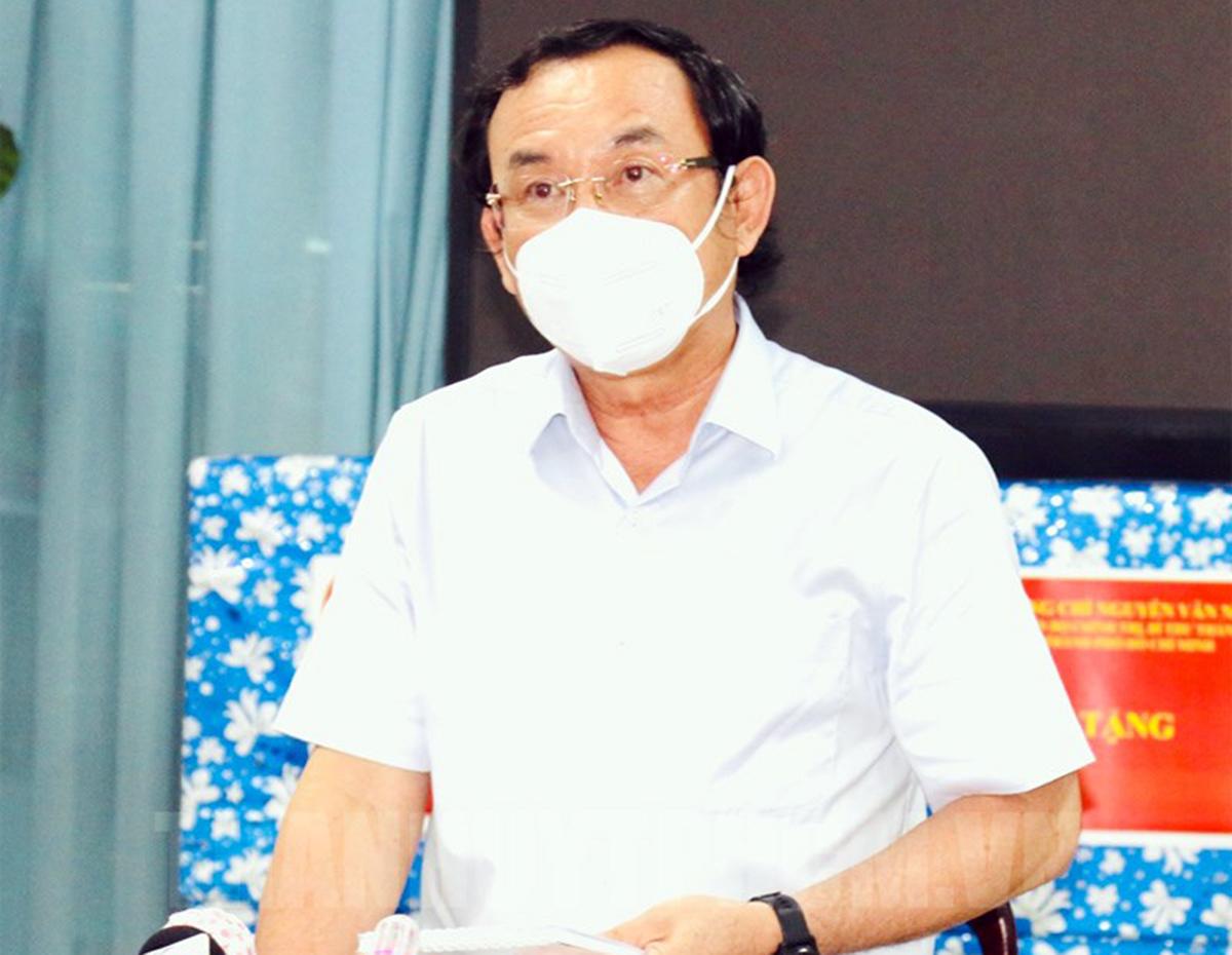 Bí thư Thành ủy TP HCM phát biểu tại buổi làm việc với Ban thường vụ huyện ủy Củ Chi chiều 4/9. Ảnh: Website Thành ủy TP HCM