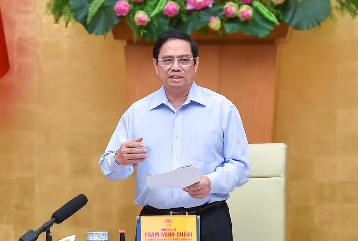 Thủ tướng Phạm Minh Chính chủ trì họp Ban chỉ đạo quốc gia phòng chống Covid-19 với các địa phương, chiều 5/9. Ảnh: Nhật Bắc