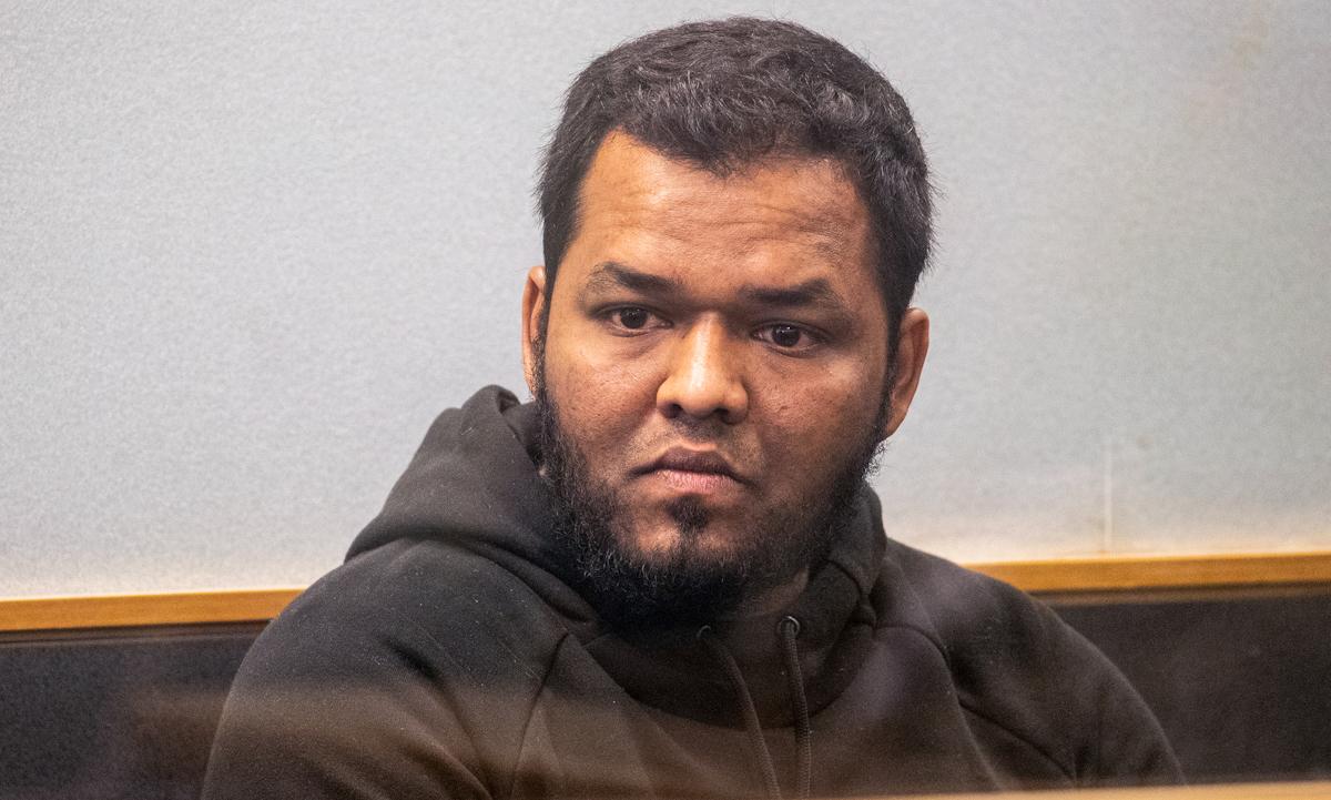 Ahamed Aathill Mohamed Samsudeen tại phiên tòa ở Auckland, New Zealand ngày 7/8/2018. Ảnh: AP.