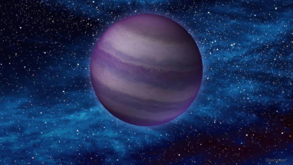 Mô phỏng sao lùn nâu WISE 1534–1043. Ảnh: Caltech