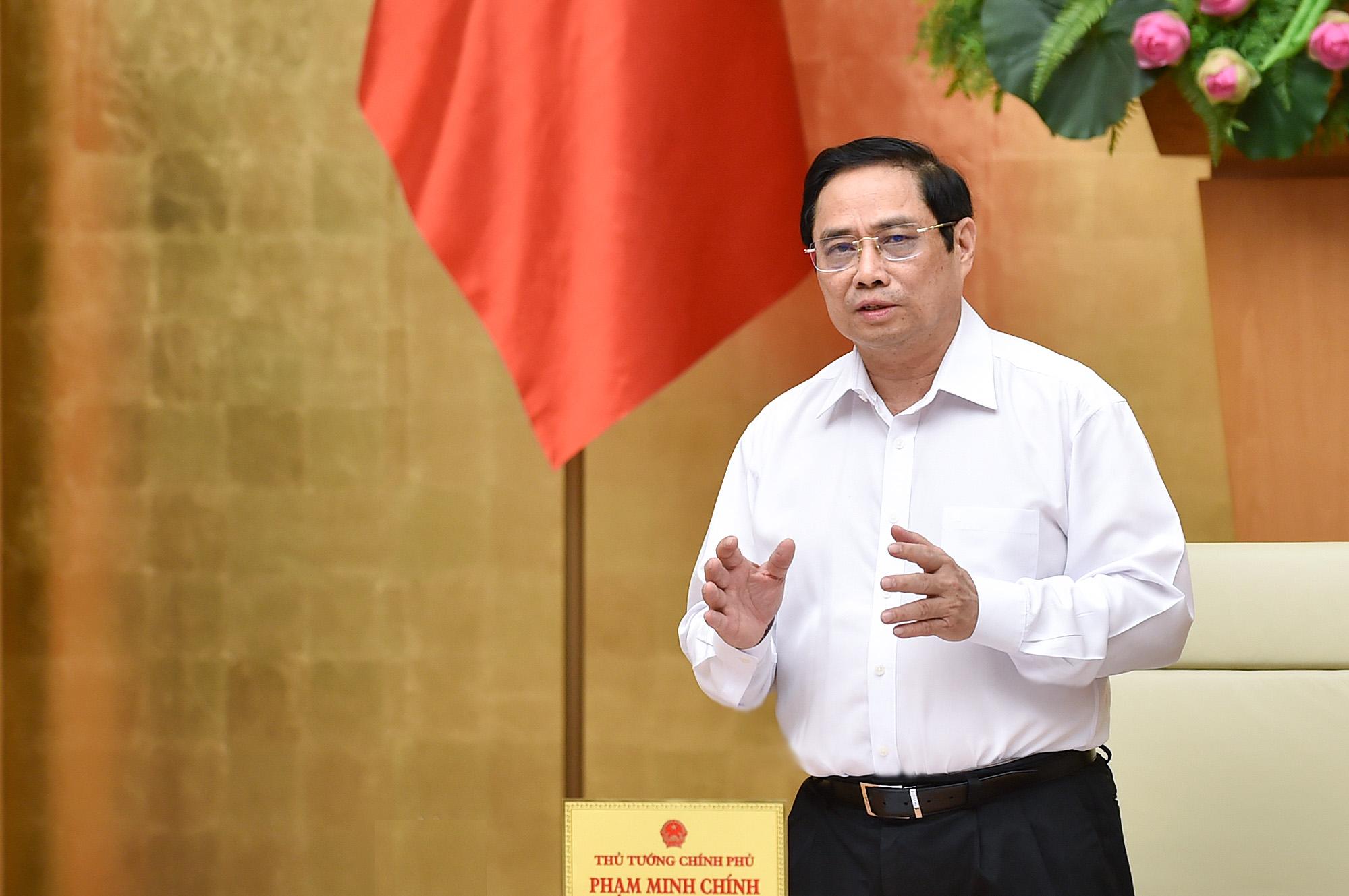 Thủ tướng Phạm Minh Chính chủ trì phiên họp Chính phủ thường kỳ tháng 8, ngày 6/9. Ảnh: Nhật Bắc