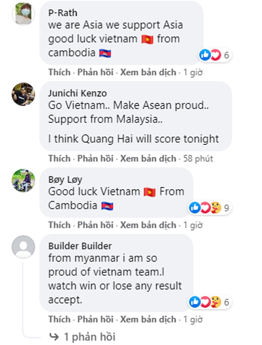 Một fan đến từ Malaysia còn mạnh dạn đoán Quang Hải sẽ ghi bàn vào tối nay.