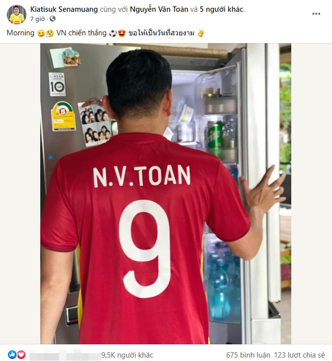 HLV Kiatisuk cũng đoán Việt Nam chiến thắng và học trò cưng Văn Toàn sẽ tỏa sáng.
