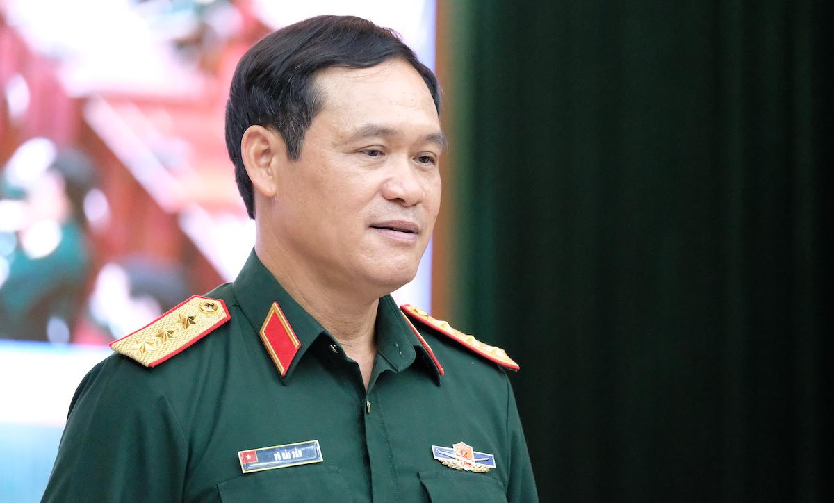 Thượng tướng Vũ Hải Sản, Thứ trưởng Quốc phòng, Trưởng Ban Chỉ đạo phòng chống Covid-19 trong Quân đội. Ảnh: Hoàng Thùy