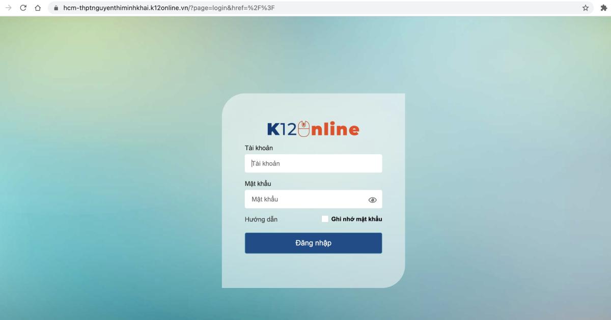 Chiều 6/9, hệ thống K12Online ở nhiều trường được khắc phục. Ảnh: Chụp màn hình