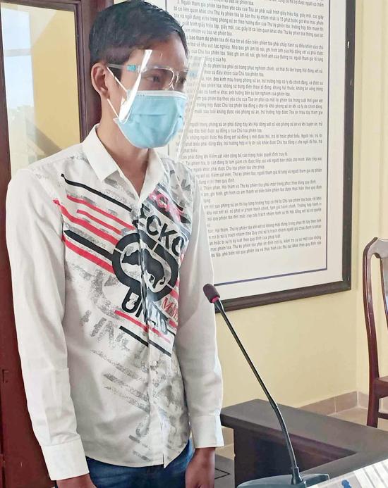 Bị cáo Thanh tại tòa hôm nay. Ảnh: Anh Tuấn.