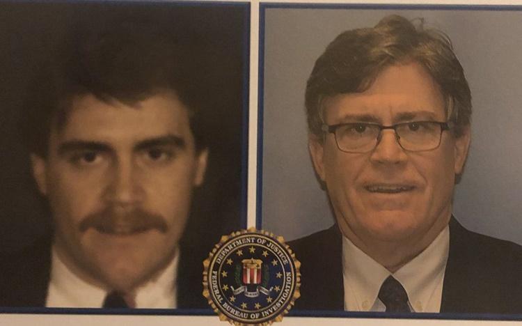 Cựu đặc vụ FBI Pellegrino vào năm 1987 và 2020. Ảnh: Frank Pellegrino.