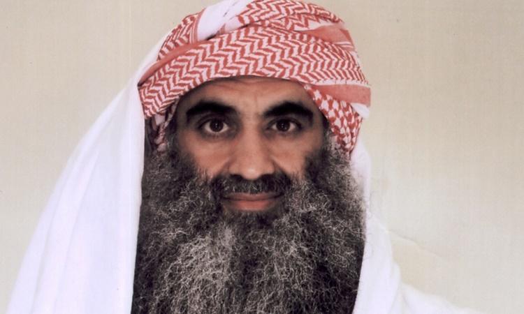Khalid Sheik Mohammed, kẻ bị cáo buộc là chủ mưu vụ tấn công khủng bố nhằm vào Mỹ ngày 11/9/2001. Ảnh: AP.