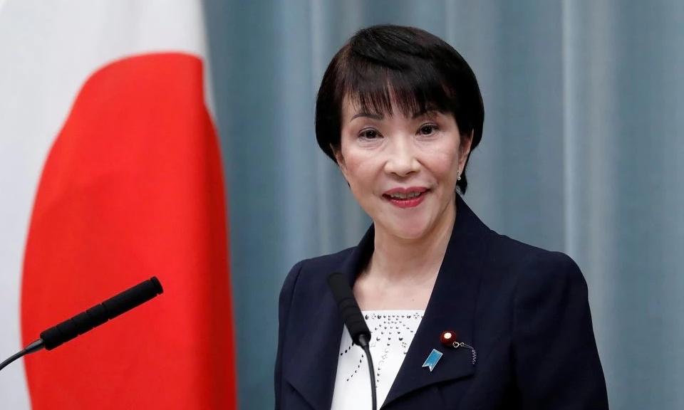 Bà Sanae Takaichi khi còn làm bộ trưởng Nội vụ, trong một cuộc họp báo ở Tokyo ngày 11/9/2019. Ảhh: Reuters