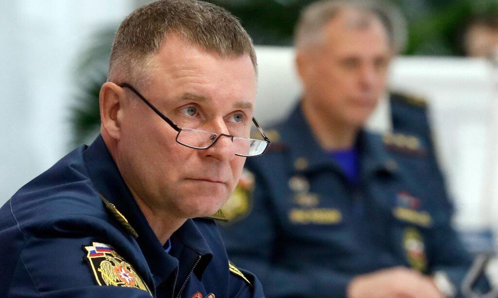 Bộ trưởng Tình huống Khẩn cấp Nga Yevgeny Zinichev tại cuộc họp ở Moskva hôm 27/12/2019. Ảnh: AFP.