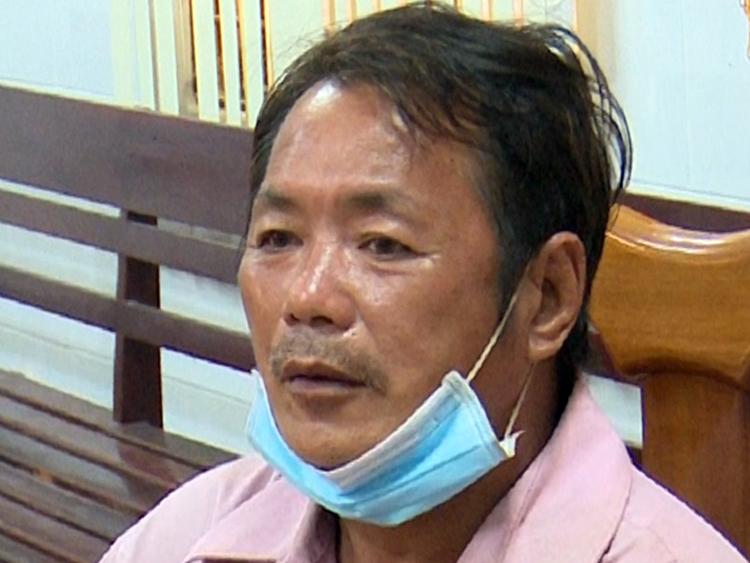 Nguyễn Văn Dũng tại cơ quan công an. Ảnh: An Phú
