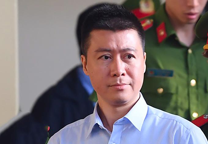 Phan Sào Nam tại phiên tòa ở TAND tỉnh Phú Thọ. Ảnh:Giang Huy.