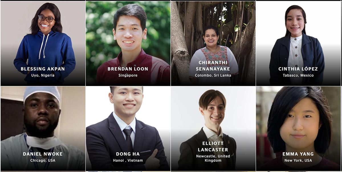 Đồng Ngọc Hà trong trong danh sách 50 sinh viên xuất sắc toàn cầu năm 2021. Ảnh chụp màn hình