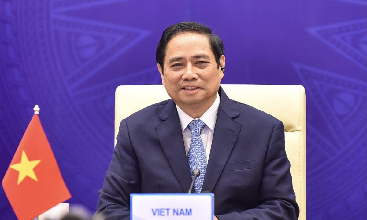 Thủ tướng Phạm Minh Chính dự hội nghị GSM sáng 9/9. Ảnh: BNG.