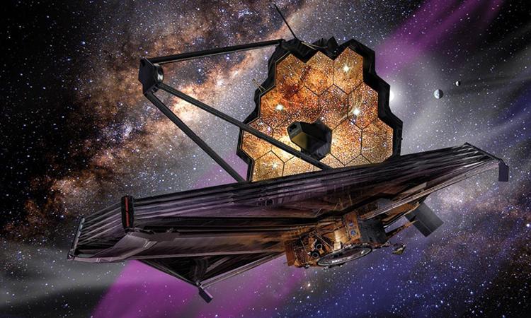 Mô phỏng kiến viễn vọng không gian James Webb. Ảnh: NASA