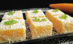 Bánh cà rốt lăn vụn dừa