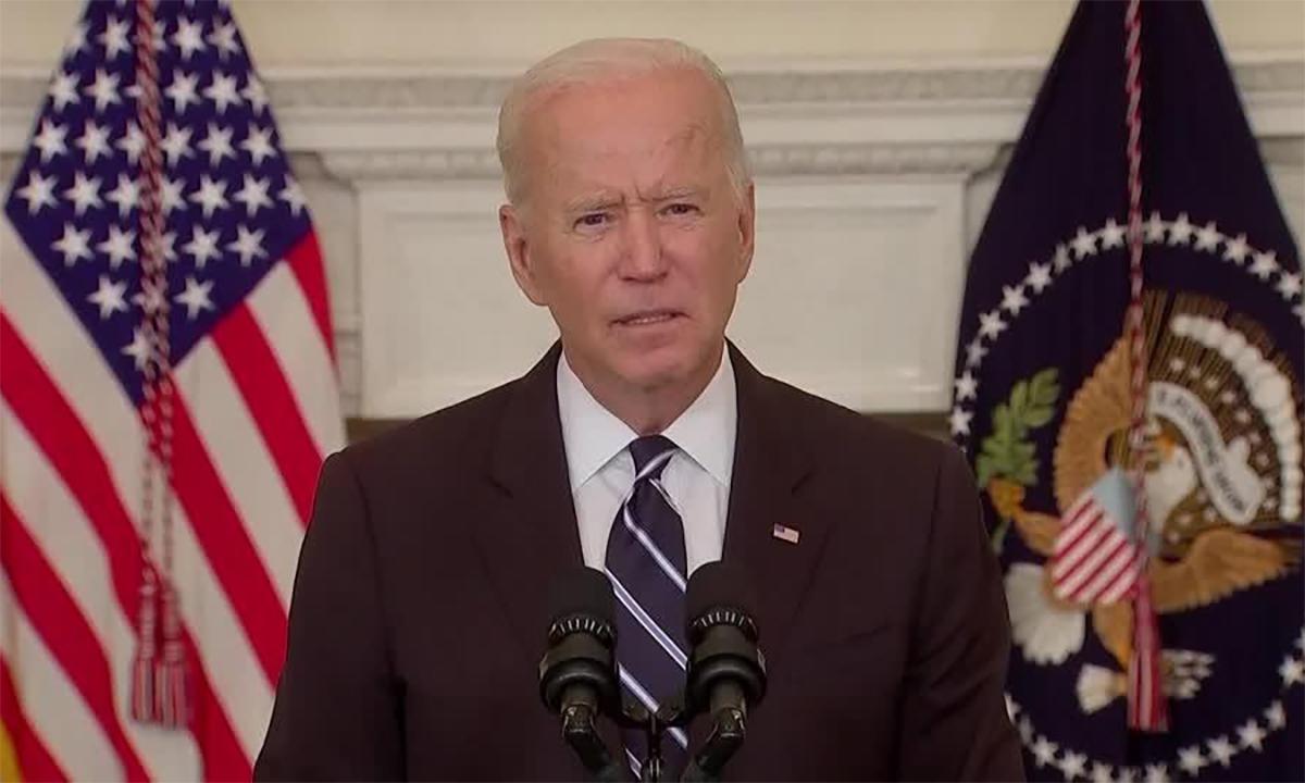 Tổng thống Mỹ Joe Biden công bố kế hoạch siết yêu cầu tiêm vaccine Covid-19 bắt buộc ngày 9/9. Ảnh: Reuters.