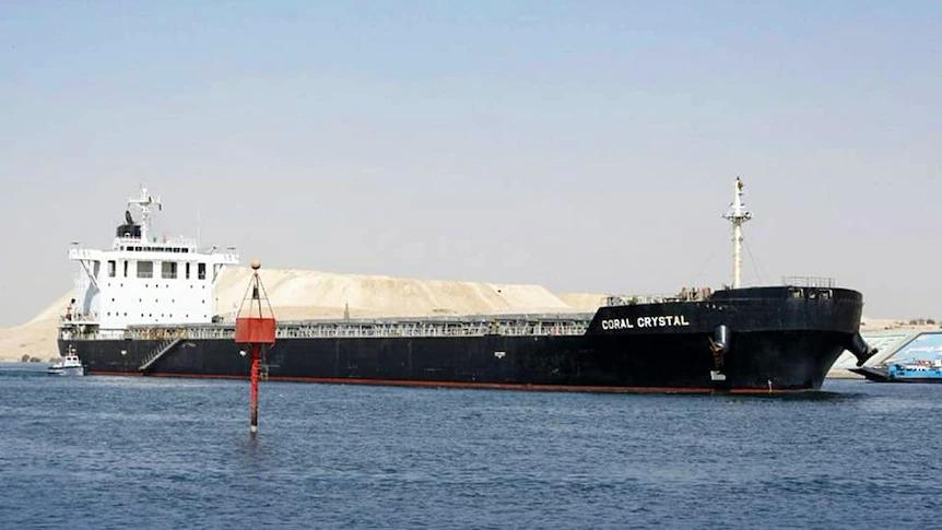 Tàu hàng Coral Crystal. Ảnh: Kênh đào Suez